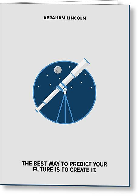Predict Your Future Abraham Lincoln Inspiration Quotes Poster Greeting Card