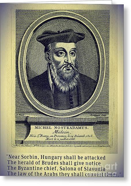 Predictions Of Nostradamus 4 Greeting Card