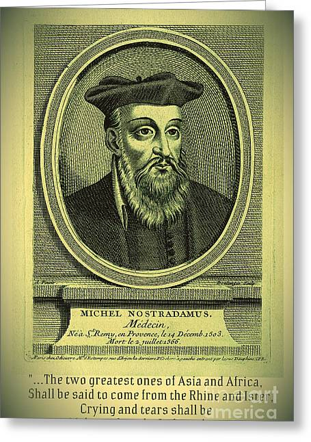 Predictions Of Nostradamus 2 Greeting Card