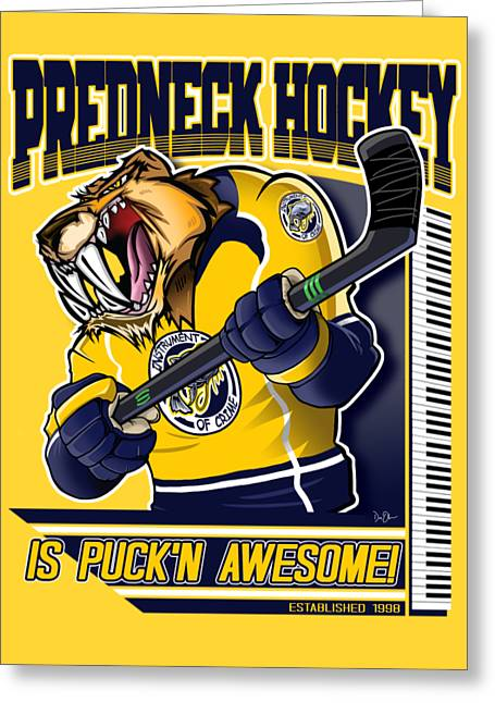 Predneck Hockey Greeting Card