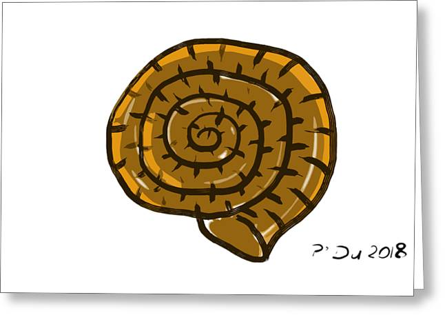 Prehistoric Shell Greeting Card