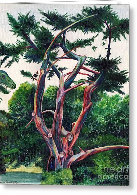 Prehistoric Tree Greeting Card by Deanna Yildiz