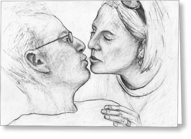 Prelude To The Kiss Greeting Card by John Terwilliger