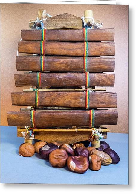 Premitive Marimba With Chestnuts Greeting Card