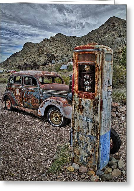 Premium No 2 Diesel Pump Greeting Card by Susan Candelario