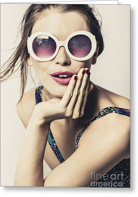 Premium Vintage Fashion Photo Greeting Card by Jorgo Photography - Wall Art Gallery