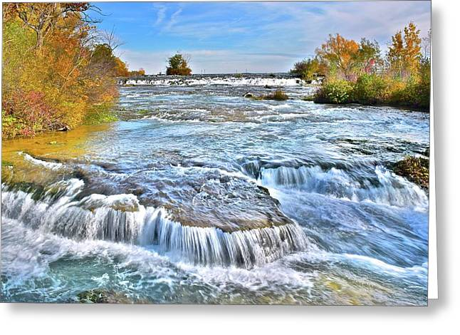 Greeting Card featuring the photograph Preparing For The Big Fall by Frozen in Time Fine Art Photography