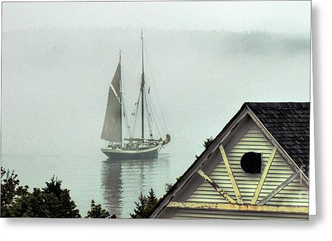 Preparing To Sail Greeting Card by Christopher Mace
