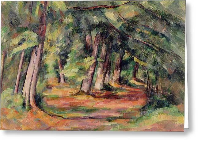 Pres Du Jas De Bouffan Greeting Card by Paul Cezanne