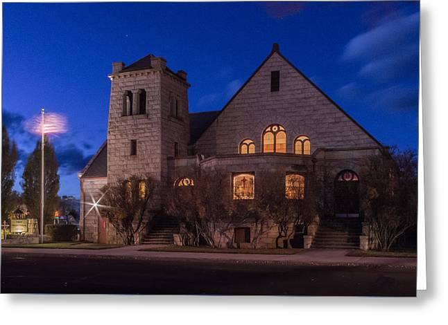 Presbyterian Church Monte Vista, Co Greeting Card by Kenneth Michel
