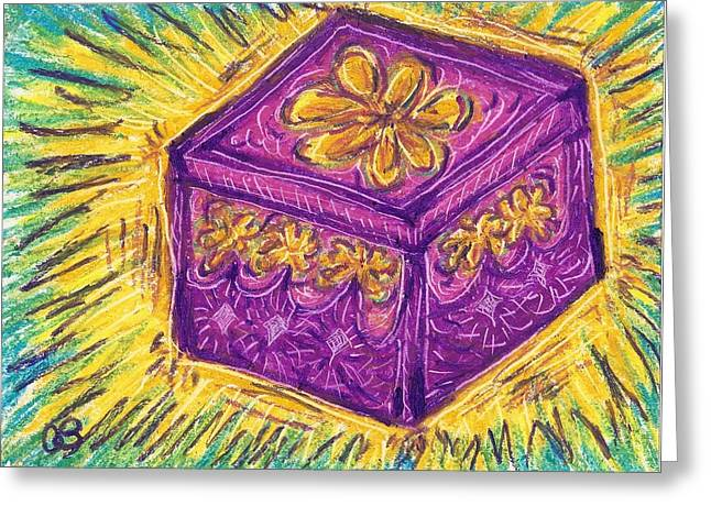 Playful Pastels Greeting Cards - Present Greeting Card by Cathy Bishop