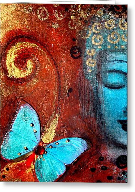 Buddhist Greeting Cards - Present Moment Greeting Card by Tara Catalano