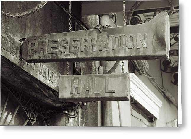 Preservation Hall, French Quarter, New Orleans, Louisiana Greeting Card