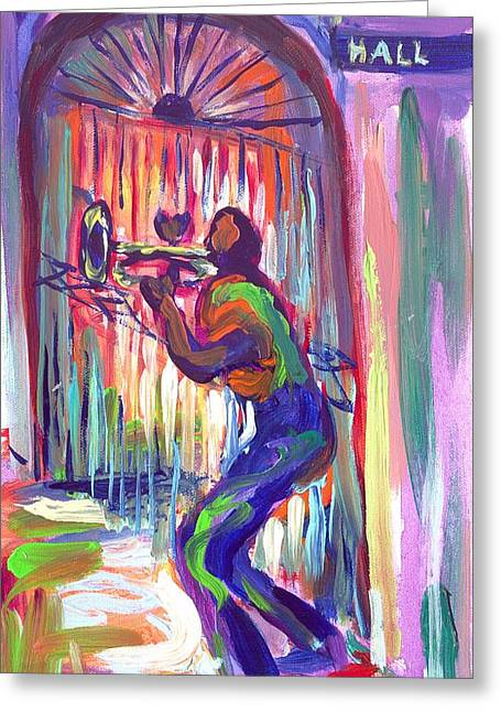 Preservation Hall New Orleans Greeting Card by Saundra Bolen Samuel