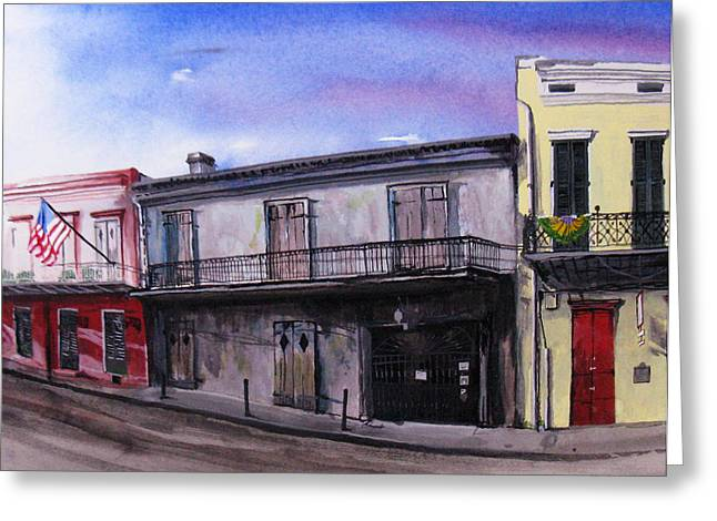 Preservation Hall Greeting Card by Tom Hefko