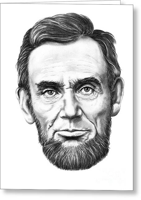 President Abe Lincoln Greeting Card by Murphy Elliott