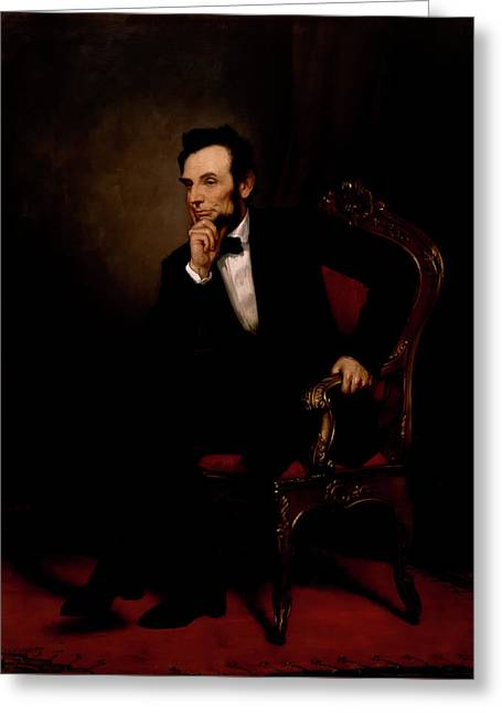 President Abraham Lincoln Greeting Card by George Healy