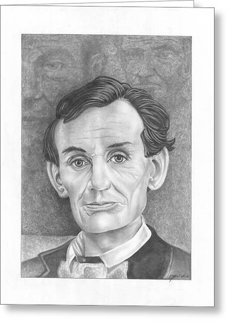 President  Abraham Lincoln Greeting Card by Julian  B