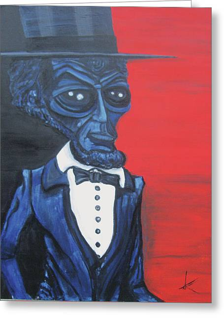 President Alienham Lincoln Greeting Card