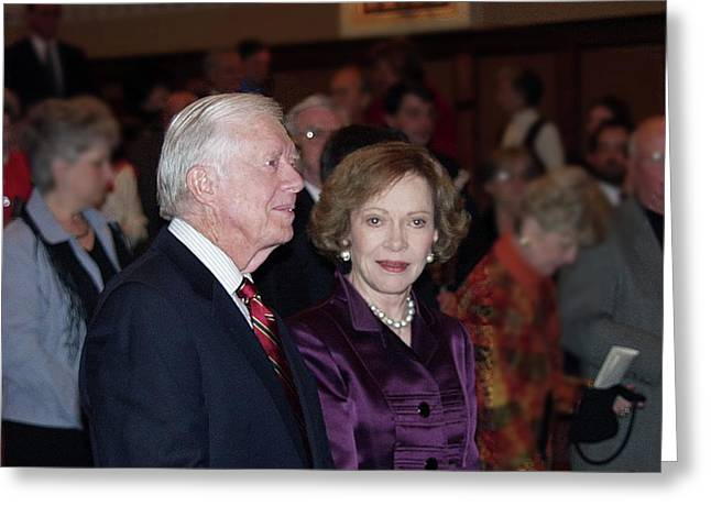 President And Mrs. Jimmy Carter Nobel Celebration Greeting Card