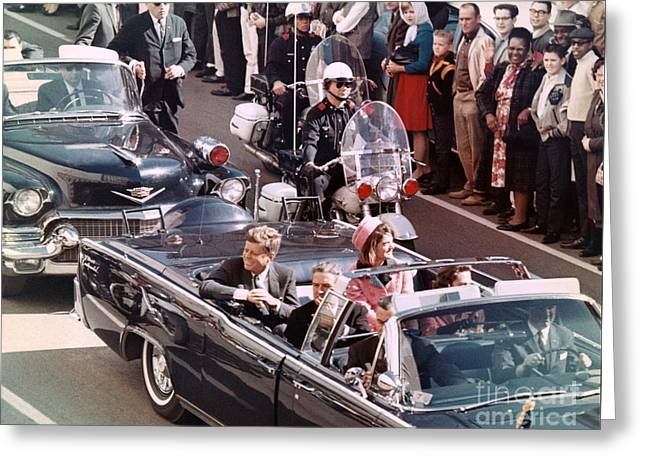 President And Mrs Kennedy In Dallas, Texas. Greeting Card