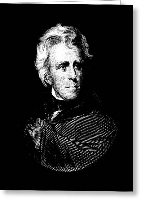 President Andrew Jackson Graphic Greeting Card by War Is Hell Store