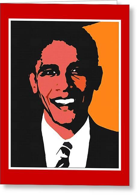 President Barack Obama 2 Greeting Card by Otis Porritt