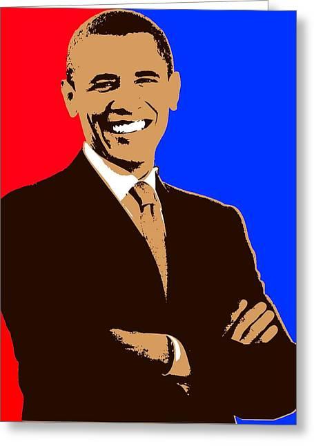 President Barack Obama 3 Greeting Card