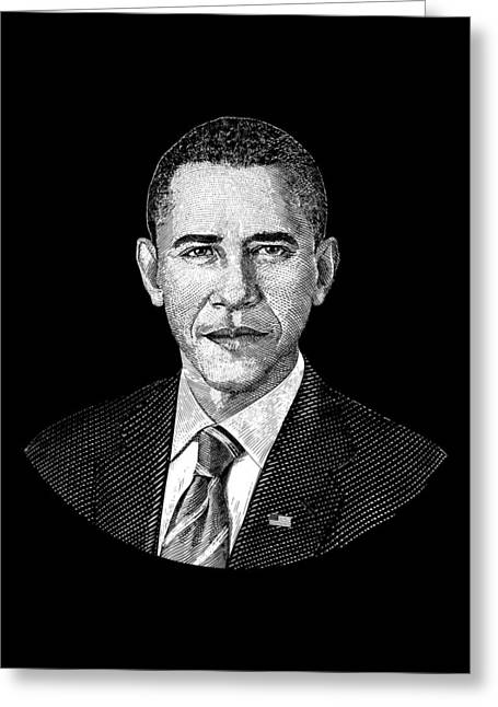 President Barack Obama Graphic Greeting Card by War Is Hell Store