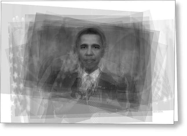 President Barack Obama  Greeting Card by Steve Socha