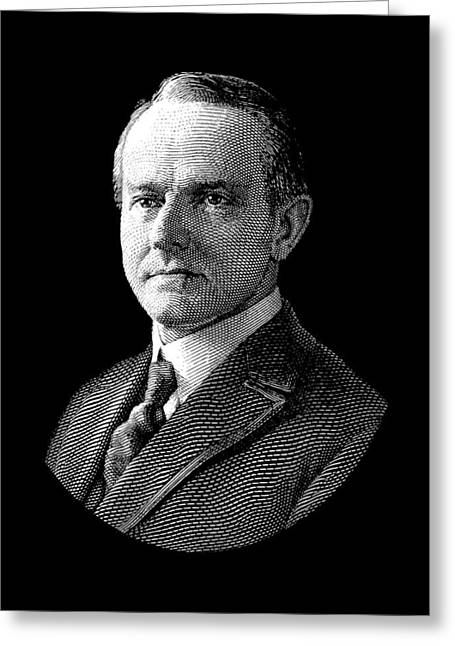 President Calvin Coolidge Graphic Greeting Card