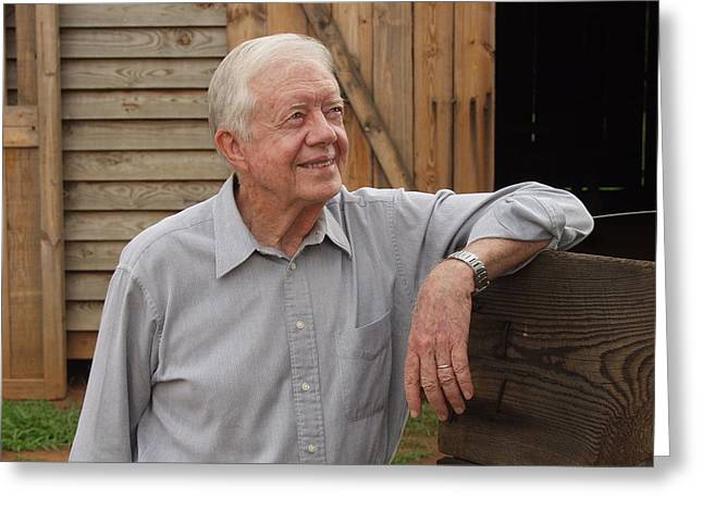President Carter At His Boyhood Farm Greeting Card