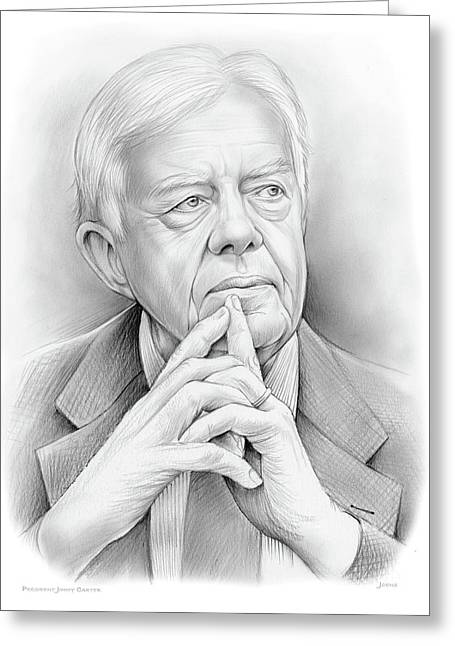 President Carter Greeting Card by Greg Joens