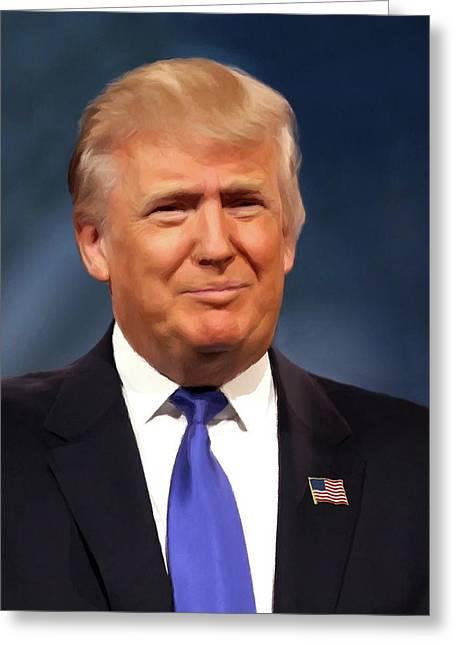 President Donald John Trump Portrait Greeting Card