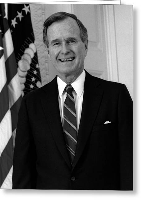 President George Bush Sr Greeting Card