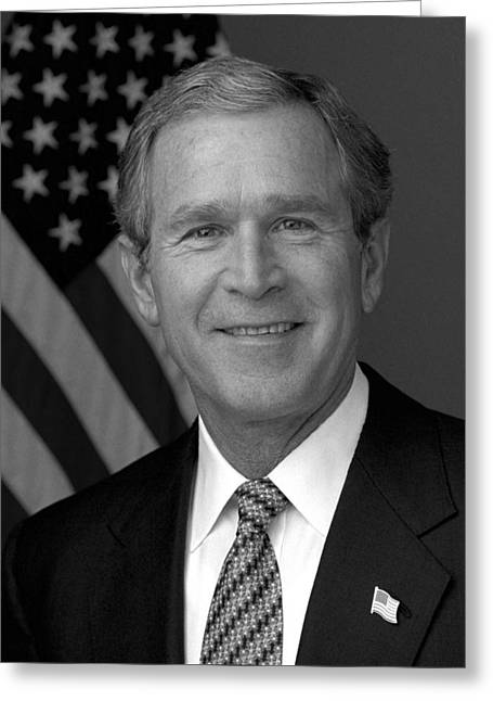 President George W. Bush Greeting Card by War Is Hell Store
