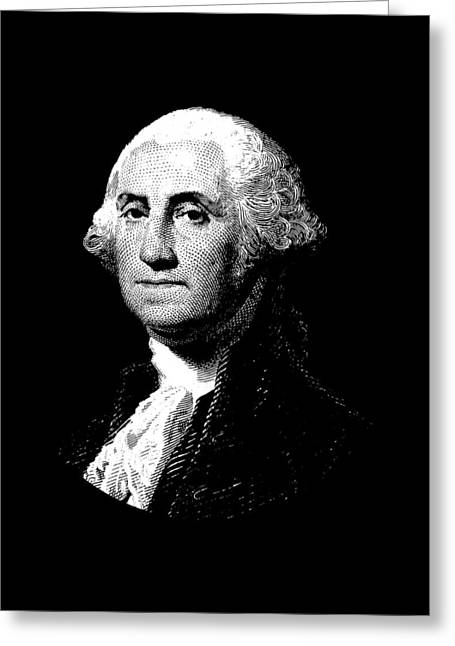 President George Washington Graphic  Greeting Card by War Is Hell Store