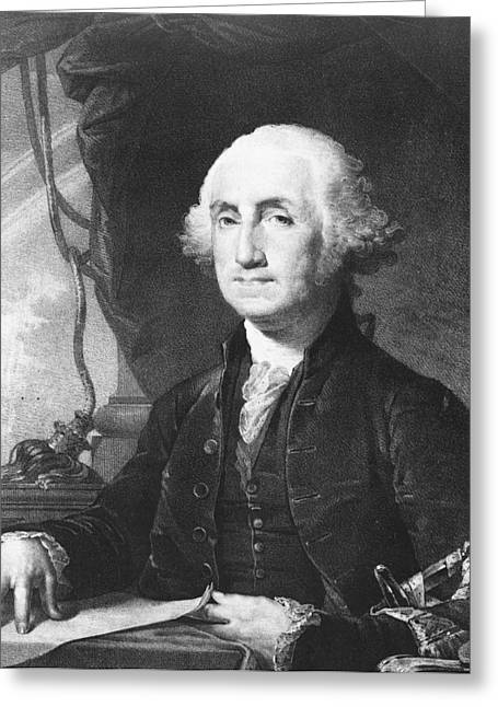 Famous People Photographs Greeting Cards - President George Washington Greeting Card by International  Images