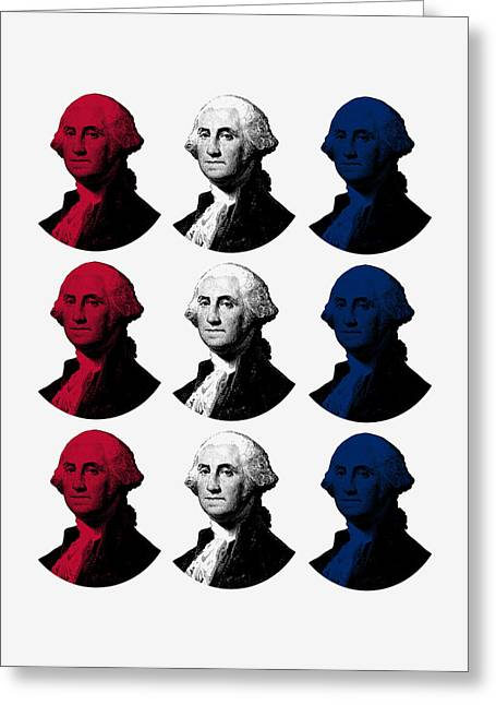 President George Washington - Red, White, And Blue  Greeting Card