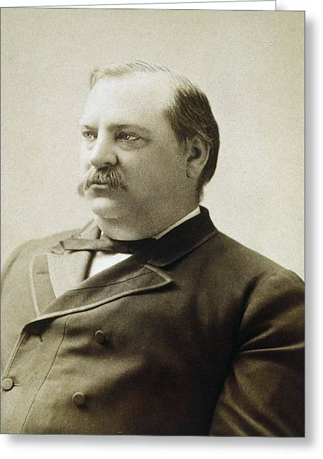 American Politician Greeting Cards - President Grover Cleveland Greeting Card by International  Images