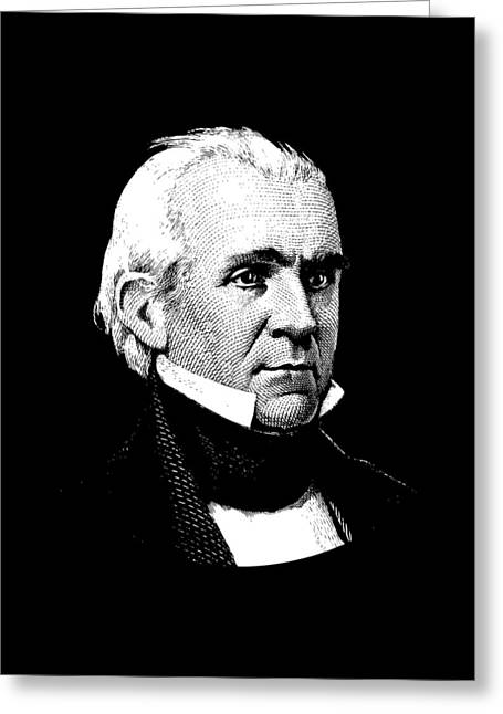 President James K. Polk Graphic Greeting Card by War Is Hell Store
