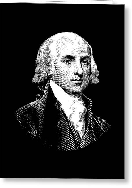 President James Madison Graphic Greeting Card by War Is Hell Store