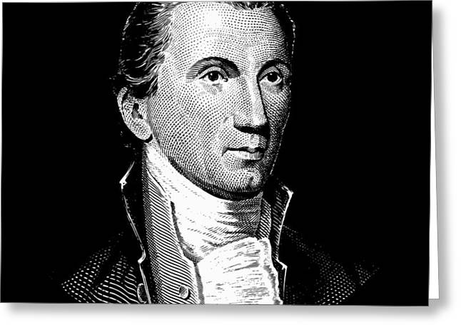 President James Monroe  Greeting Card by War Is Hell Store