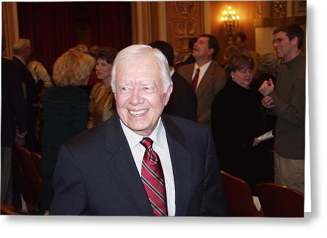 President Jimmy Carter - Nobel Peace Prize Celebration Greeting Card