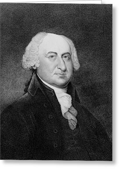 American Politician Greeting Cards - President John Adams Greeting Card by International  Images