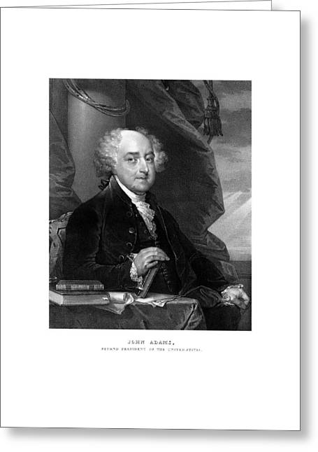 President John Adams Greeting Card