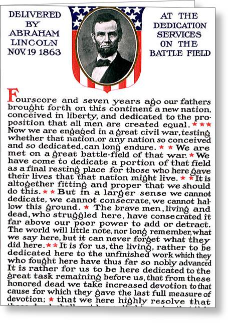 President Lincolns Gettysburg Address Greeting Card by Science Source