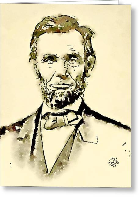 President Of The United States Of America Abraham Lincoln Greeting Card