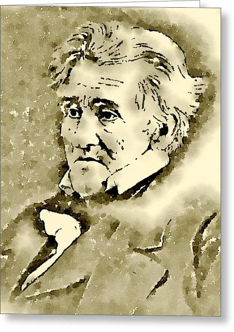President Of The United States Of America Andrew Jackson Greeting Card
