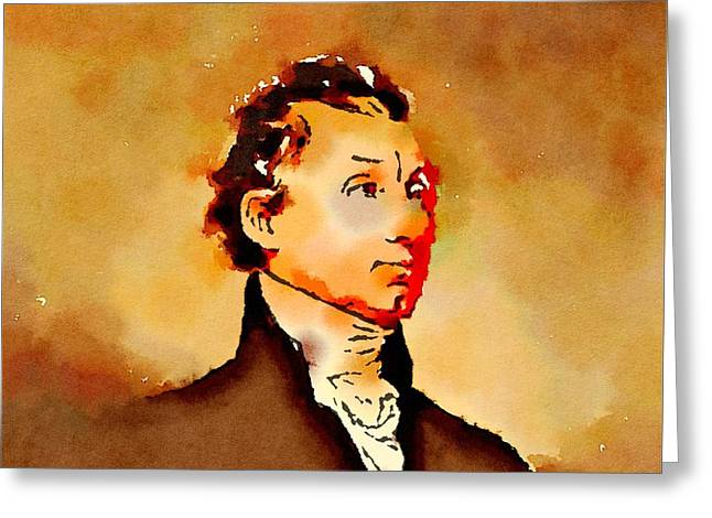 President Of The United States Of America James Monroe Greeting Card